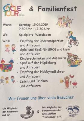 Vorschaubild zur Meldung: Einladung zur CycleTour und zum Dorffest