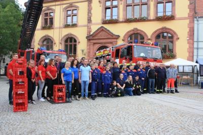 Vorschaubild zur Meldung: Aktionstag der Egelner Feuerwehr auf dem Marktplatz