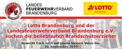 Vorschaubild zur Meldung: Lotto Brandenburg und der Landesfeuerwehrverband Brandenburg e.V. prämieren die/den beliebteste(n) Brandschutzerzieher(in)