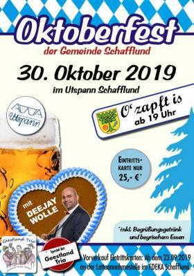 Vorschaubild zur Meldung: Oktoberfest in Schafflund