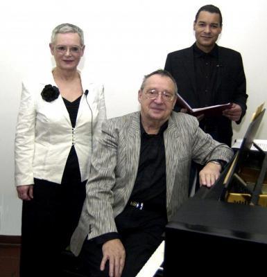 Das Kalliope-Team: Gisela M. Gulu, Armin Baptist und Lusako Karonga.