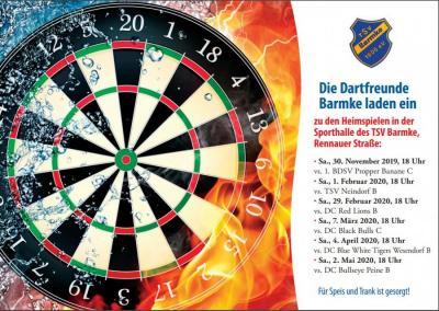 Foto zur Meldung: Neue Abteilung - Nun auch Darts beim TSV Barmke