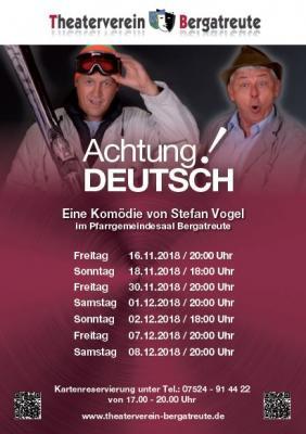 """""""Achtung Deutsch"""""""