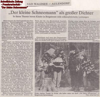 """""""Der kleine Schneemann"""""""