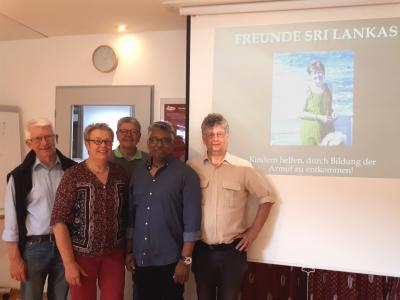 Lester Corea und Werner Zupp mit Thomas Schmidt, Karin Laier und Rainer Kunze