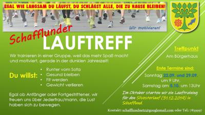 Foto zur Meldung: NEU - Lauftreff in Schafflund