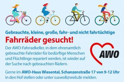 Vorschaubild zur Meldung: Fahrräder gesucht!