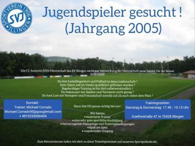Bild der Meldung: Jugendspieler gesucht (Jahrgang 2005)