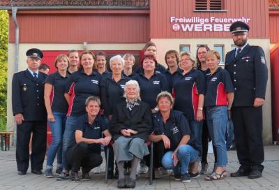 Foto zur Meldung: 50 Jahre Frauenlöschgruppe Freiwillige Feuerwehr Werben