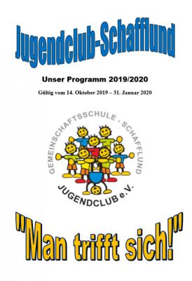 Jugendclub Programm bis Januar 2020