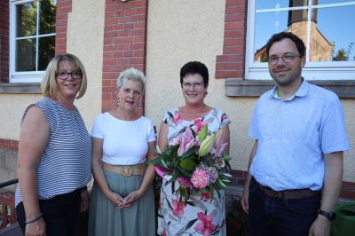 Vorschaubild zur Meldung: Verabschiedung der Erzieherin Ingeborg Schäfer bei der Gemeinde Flieden