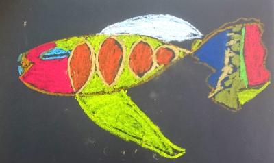 """Vorschaubild zur Meldung: """"Stimmungsfische - Heute bin ich"""" - Ein Kunstprojekt der Klasse 5"""