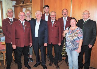 Der RGZV Reisbach gratulierte dem Jubilar zum Geburtstag