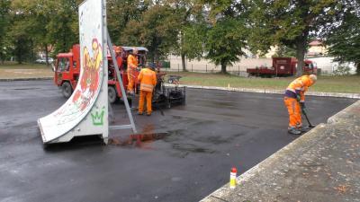 Foto zur Meldung: Skateranlage wird saniert