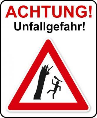 Vorschaubild zur Meldung: Achtung Unfallgefahr!