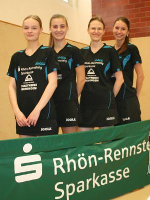 Start in die neue Regionalligasaison mit (v.l.: Pauline Stammberger, Pia Ludwig, Dr. Jacqueline Dömming und Annika Fischer)
