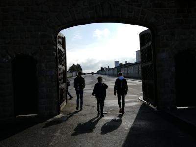 Eingang zum Lagerbereich des ehemaligen Konzentrationslagers