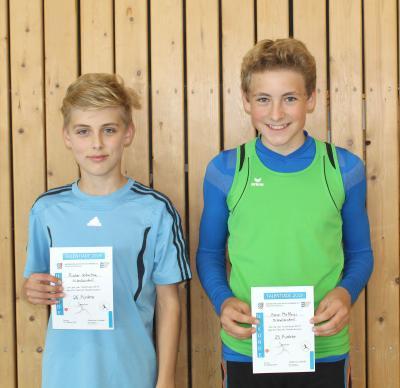 Foto zur Meldung: Zwei Wallersdorfer Athleten schaffen den Sprung in den Bezirkskader