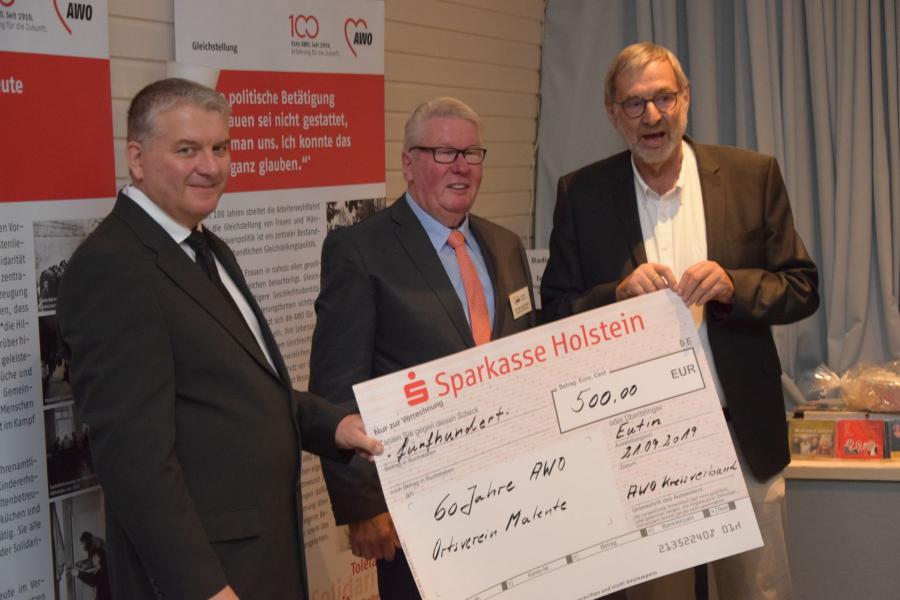 Vorschaubild der Meldung: Der Kreisverband gratuliert seinem Ortsverein Malente zum 60jährigen Geburtstag