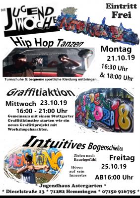 Plakat Jugendwoche 2019