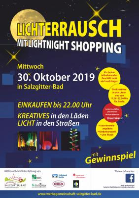 Das Highlight am 30.Oktober 2019: Lichterrausch mit Lightnight-Shopping