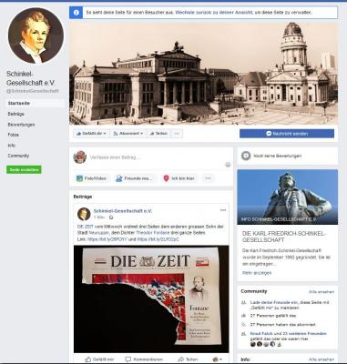 Vorschaubild zur Meldung: Die KARL-FRIEDRICH-SCHINKEL-GESELLSCHAFT jetzt auch auf Facebook