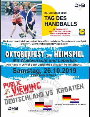 Vorschaubild zur Meldung: Wir feiern den Tag des Handballs!