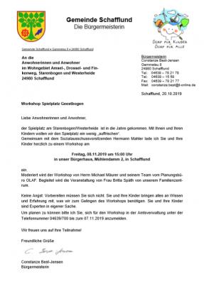 Vorschaubild zur Meldung: Spielplatz Workshop Amselweg - Westerheide