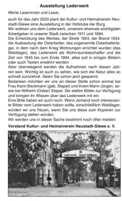 """Artikel aus """"Neustädter Anzeiger"""" vom 15.10.2019, S. 12"""