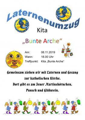 """Vorschaubild zur Meldung: Laternenumzug der KITA """"Bunte Arche"""""""