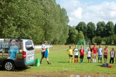 Das DFB-Mobil im Einsatz