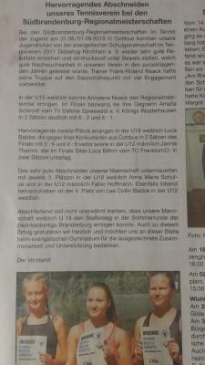 Foto zur Meldung: Zeitungsartikel im Stadtanzeiger von Doberlug-Kirchhain