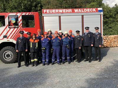 Foto zur Meldung: Nachwuchsbrandschützer zeigen ihr Können
