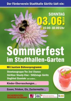 "Sommerfest des Fördervereines Stadthalle Görlitz e.V. im Stadthallengarten"""