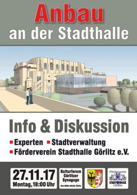 """Informationsveranstaltung """"Anbau Görlitzer Stadthalle"""""""