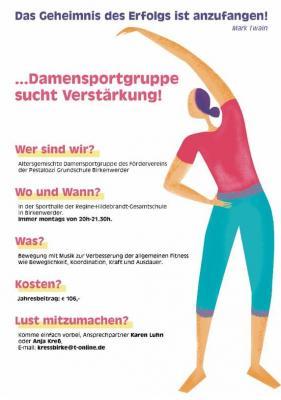Damensport sucht Verstärkung