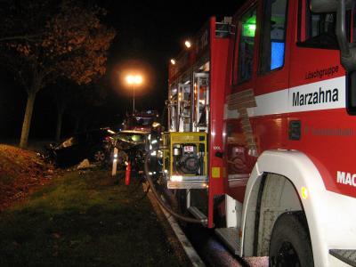 Foto zur Meldung: Schwerer Verkehrsunfall fordert Einsatzkräfte