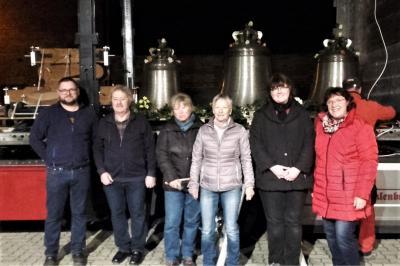 Foto zur Meldung: Ankunft der Glocken in der Peenestadt Neukalen