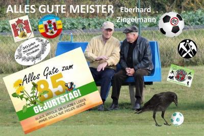 Foto zur Meldung: Eberhard Zingelmann 85 Jahre
