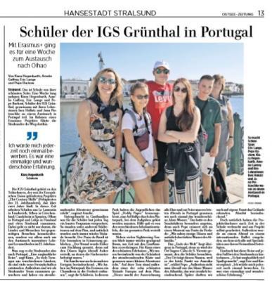 Foto zur Meldung: Schüler der IGS in Portugal