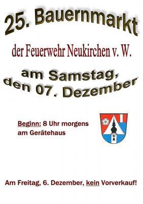 Vorschaubild zur Meldung: 25. Weihnachts- und Bauernmarkt der FF Neukirchen v. W.