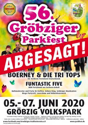 Absage 56. Parkfest