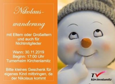 Vorschaubild zur Meldung: Herzliche Einladung zu unserer Nikolauswanderung