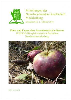 Titelblatt des 2. Sonderheftes der Mitteilungen der Naturforschenden Gesellschaft Mecklenburg