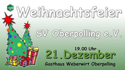 Weihnachtsfeier SV Oberpolling