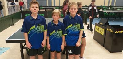 Fredrik Steinmann, Amadeus Hanisch ,Ben Hartmann v.l., wollen auch in diesem Jahr bei den LEM, diesmal eine AK höher bei den B-Schülern, um Podestplätze mitspielen.