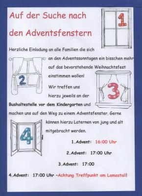 Vorschaubild zur Meldung: Adventsfenstersuche in Goßmannsdorf