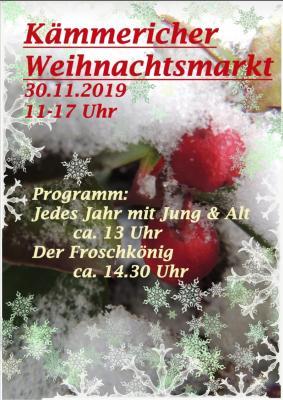 Foto zur Meldung: 13. Kämmericher Weihnachtsmarkt 2019