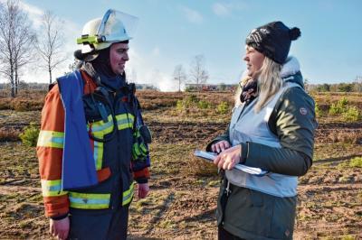 Foto zur Meldung: Groß Laasch - Wenn die Heide brennt