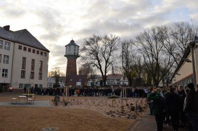 Foto zur Meldung: Schulhof des Goethe-Gymnasiums Nauen eingeweiht